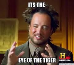 Eye Of The Tiger Meme - of the tiger