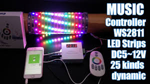 music led strip lights dream color music controller control ws2811 addressable led strip
