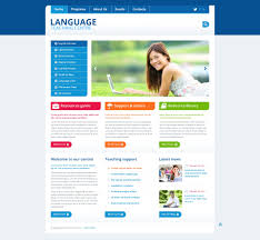 free resume website templates language school responsive website template 45435 language school responsive website template