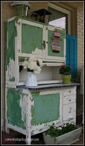 somewhat quirky a hoosier cabinet in luckets green milk paint
