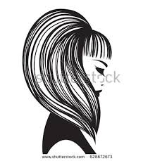 beautiful lady nice hairstyle makeup wearing stock vector