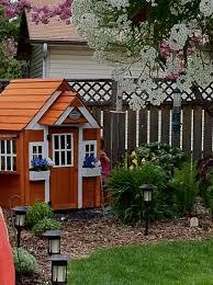 backyard cottage backyard playhouses plans home outdoor decoration