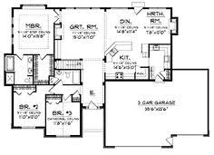 Open Floor Plans Ranch Style Homes Ranch Floor Plans Open Concept Mankato Ii By Wardcraft Homes