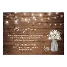 wedding reception card baby s breath jar lights wedding reception card zazzle co uk