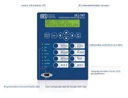 sel 787 3e 3s 4x transformer protection relay schweitzer