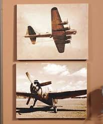 Aviation Home Decor Metal Bird U0027 Large Aviation Canvas Triptych This Would Look