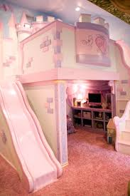 This Playful Pink Bedroom Is Any Little Princesss Dream The - Girls bunk beds with slide