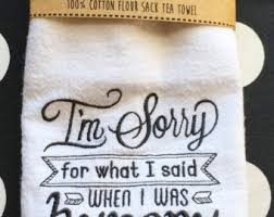 embroidered kentucky state outline y u0027all flour sack tea