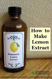 how to make homemade extracts vanilla lemon and almond