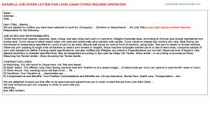 long chain dyeing machine operator offer letter