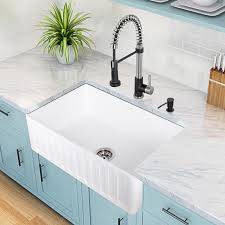 Apron Sink With Backsplash by Vigo 30 U0027 U0027 X 18 U0027 U0027 Matte Stone Farmhouse Sink Gut That Kitchen