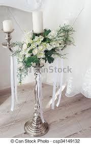 bougeoir mariage photos de stock de bouquet fleur romantique bougeoir mariage
