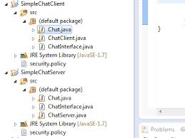 kumpulan tutorial java netbeans java rmi exle simple chat program between server and client