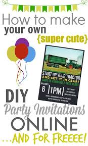 printable party invitations make your own diy printable party invitations the creek line house
