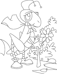 grasshopper scrawling garden coloring pages download free