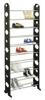 amazon com home basics shoe rack 30 pair black home u0026 kitchen