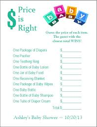 price is right baby shower 24 personalized price is right baby shower