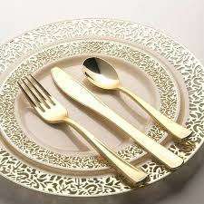 gold plastic silverware plastic flatware for weddings gold plastic cutlery wooden
