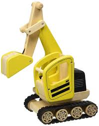 pintoy construction series digger amazon co uk toys u0026 games