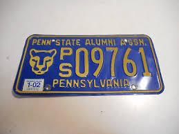 penn state alumni license plate l646 pennsylvania penn state alumni assn license plate tag pa