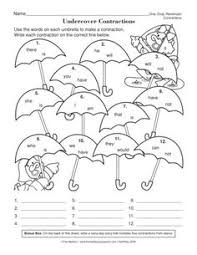 contractions worksheet more contraction worksheets reading