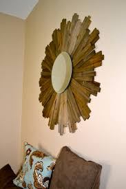 my diy sunburst mirror i used wood shims from home depot d i y
