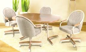 dinette table and chairs with casters brilliant terrific dining room sets with wheels on chairs 89 popular