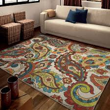 Paisley Area Rug Orian Rugs Bright Paisley Wafted Multi Colored Area Rug Walmart