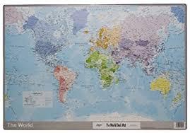 world map desk mat giant mouse pad world atlas protective desk mat large 59 x 40cm reversible plastic