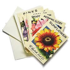 flower seed packets heirloom flower seed packet note cards beekman 1802 mercantile