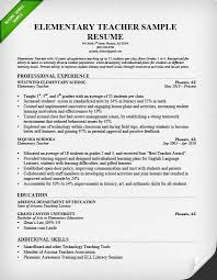 Sample Resume In English by Samples Of Resumes For Teachers