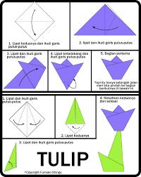 cara membuat bunga dari lipatan kertas cara membuat origami bunga tulip untuk anak