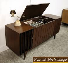 mid century console cabinet mid century modern zenith ml2670 3 stereo console record player