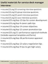 Service Desk Specialist Salary Top 8 Service Desk Manager Resume Samples
