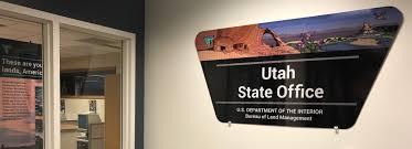 bureau office utah contact us bureau of land management