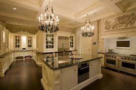 interior gorgeous luxury kitchens with dark wooden flooring and 2