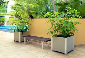 planters leed commercial planter recycled plastic large rooftop