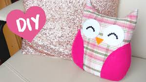 Diy by Diy Room Decor Easy Owl Pillow Sew No Sew Youtube