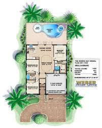 florida house plans with pool morro bay home plan narrow house plans by weber design
