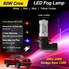 2008 dodge ram 1500 led fog lights 2pcs led fog lights bulbs car 80w high power for 2003 2008 dodge ram
