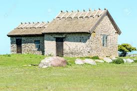 Scandinavian Style House Limestone House With Reed Roof In Old Scandinavian Style Here
