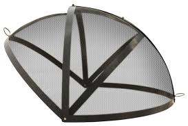 Firepit Screens Unique Pit Mesh Cover Pit Easy Access Spark Screen