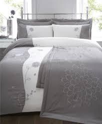 6 piece king size bed set silver grey duvet cover u0026 bedspread