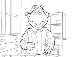 scooter muppets printable coloring page sheet
