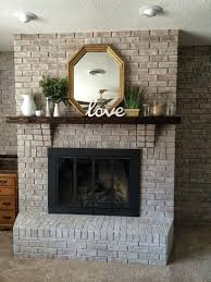 the crux grey paint wash on a brick fireplace before u0026 after