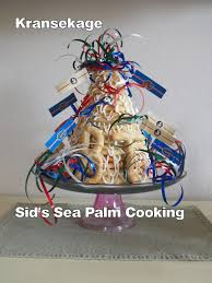 kransekage danish wreath cake part two sid u0027s sea palm cooking