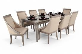 gatsby 9 piece dining set with swoop chairs bob u0027s discount furniture