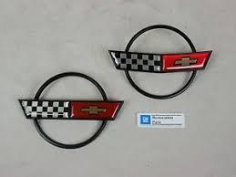 c4 corvette emblem 84 85 86 87 88 89 90 c4 corvette emblem pair set gas lid front