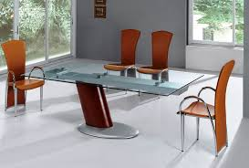 Modern Wooden Chairs For Dining Table Efficient Modern Round Dining Table Home Designs