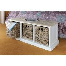 Wicker Storage Bench Bench Bench Basket Storage Acacia Hallway Bench Wicker